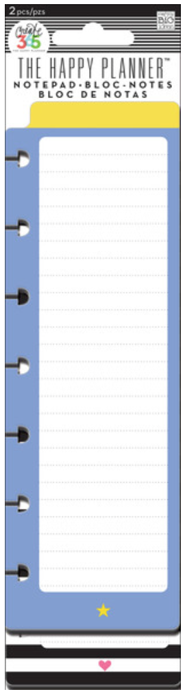 Star & Heart Notepads for Create 365™ The Happy Planner™  | me & my BIG ideas