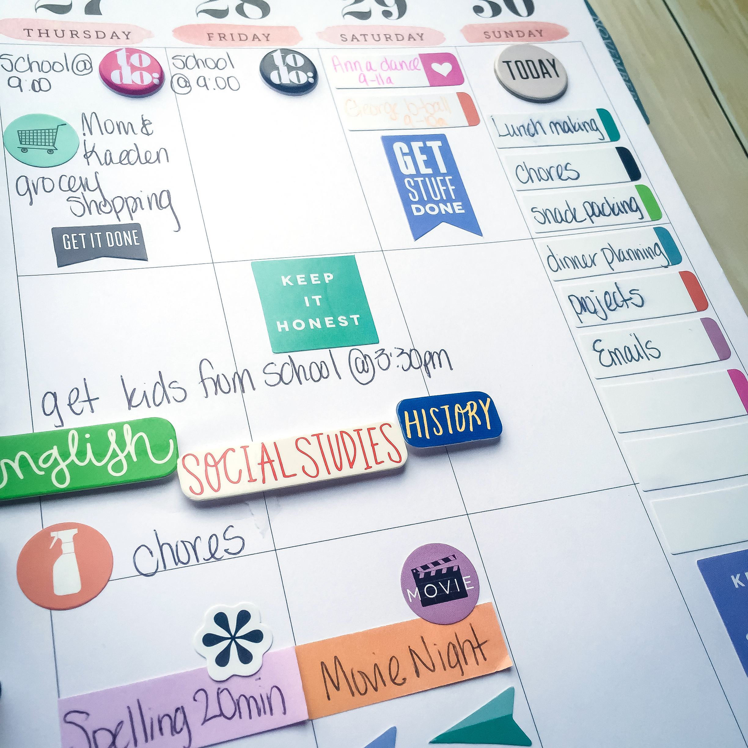 a typical school week in The Happy Planner™ of mambi Design Team member Latrice Murphy | me & my BIG ideas