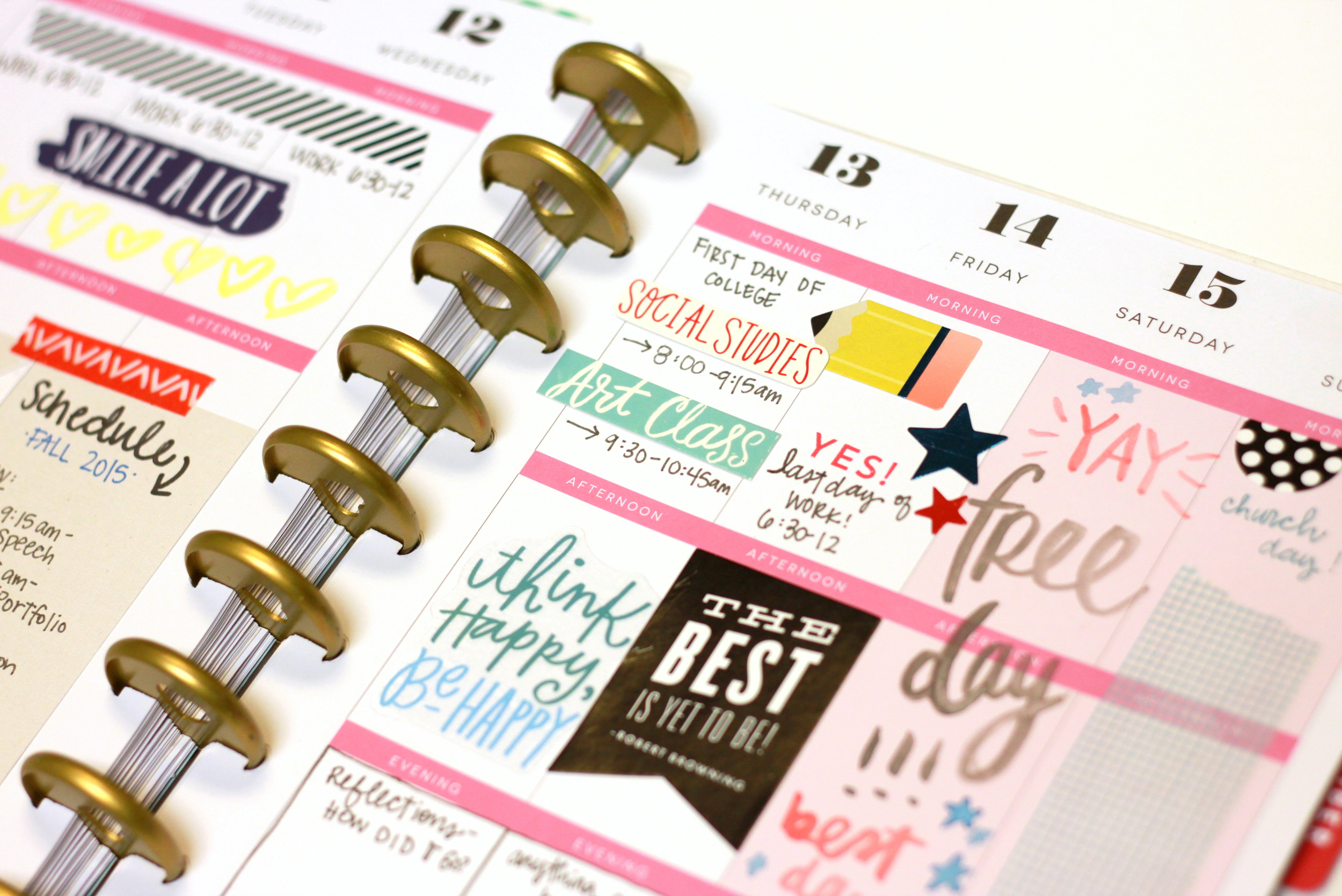 Fall 2015 semester in The Happy Planner™ of mambi Design Team member Heather Adams | me & my BIG ideas
