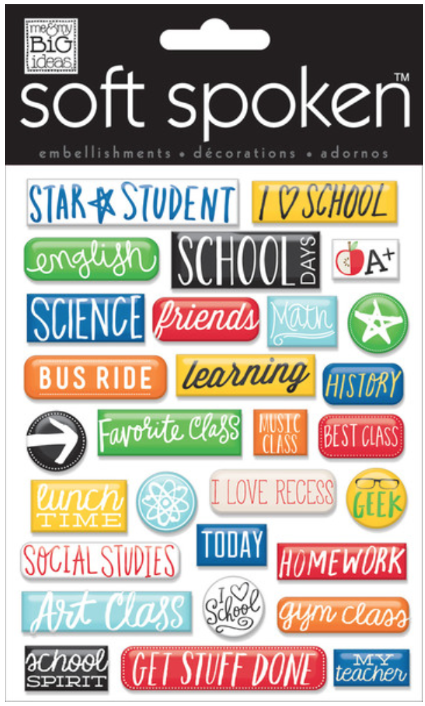 School-Pebbles SOFT SPOKEN™ stickers | me & my BIG ideas