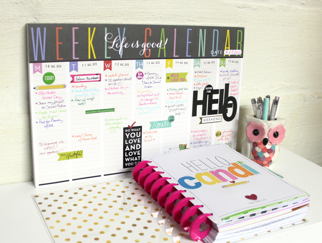 HELLO Weekly Planner Pad by mambi Deisgn Team member Candi Billman | me & my BIG ideas