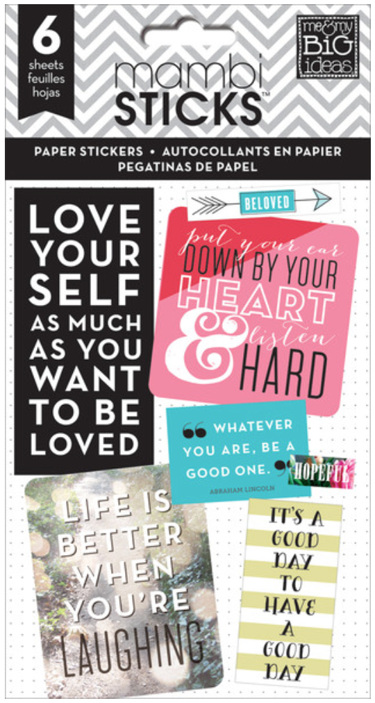 'Inspirational Quotes' mambiSTICKS sticker pad | me & my BIG ideas