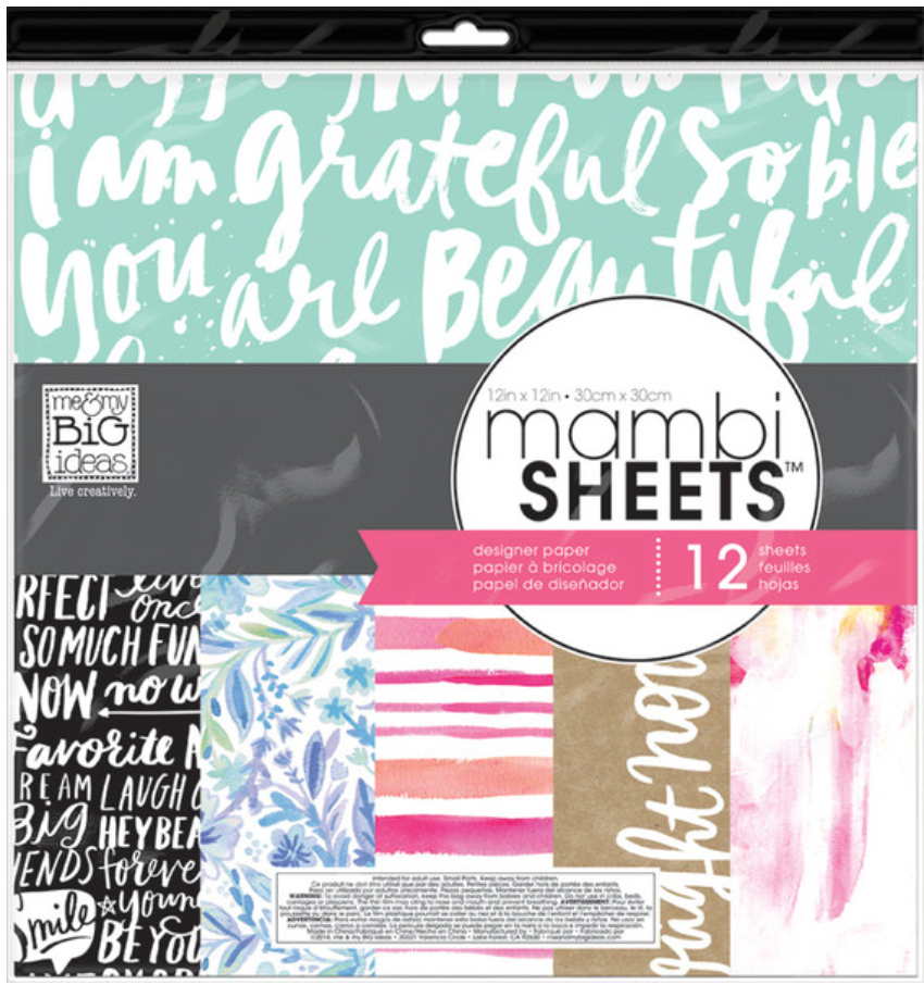 'Paint Palette' 12x12 mambiSHEETS designer paper pack | me & my BIG ideas