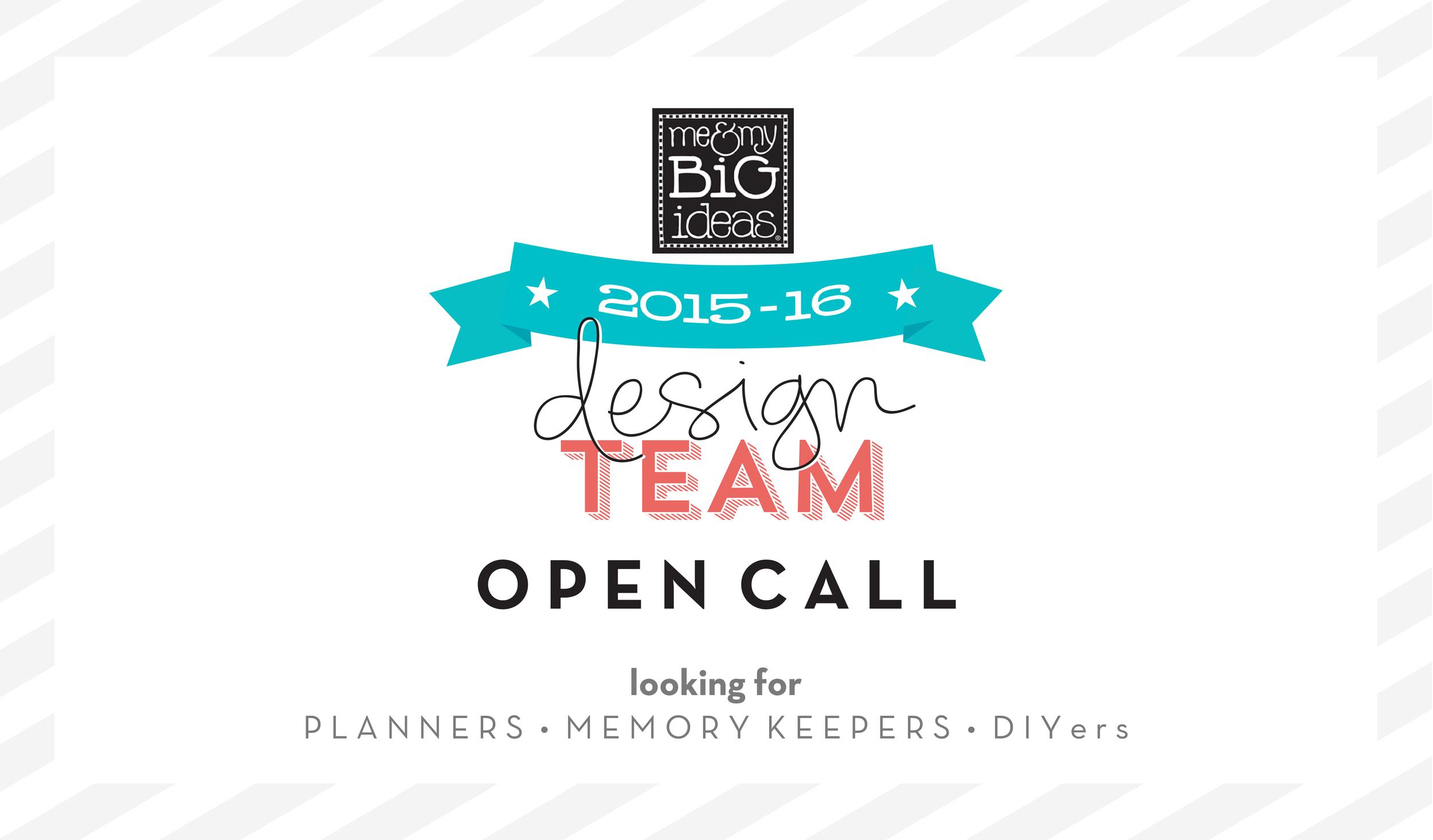 2015-2016 mambi Design Team OPEN CALL | me & my BIG ideas