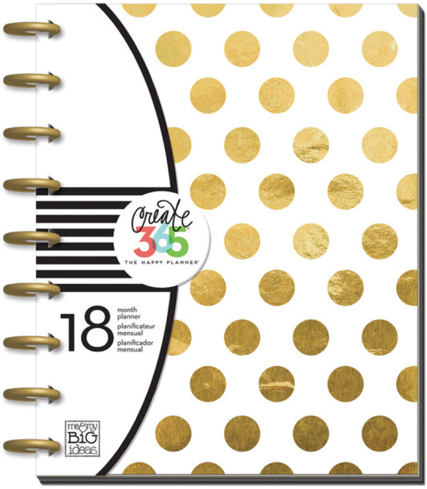 2015-2016 Gold Foil Dot Happy Planner™ | me & my BIG ideas