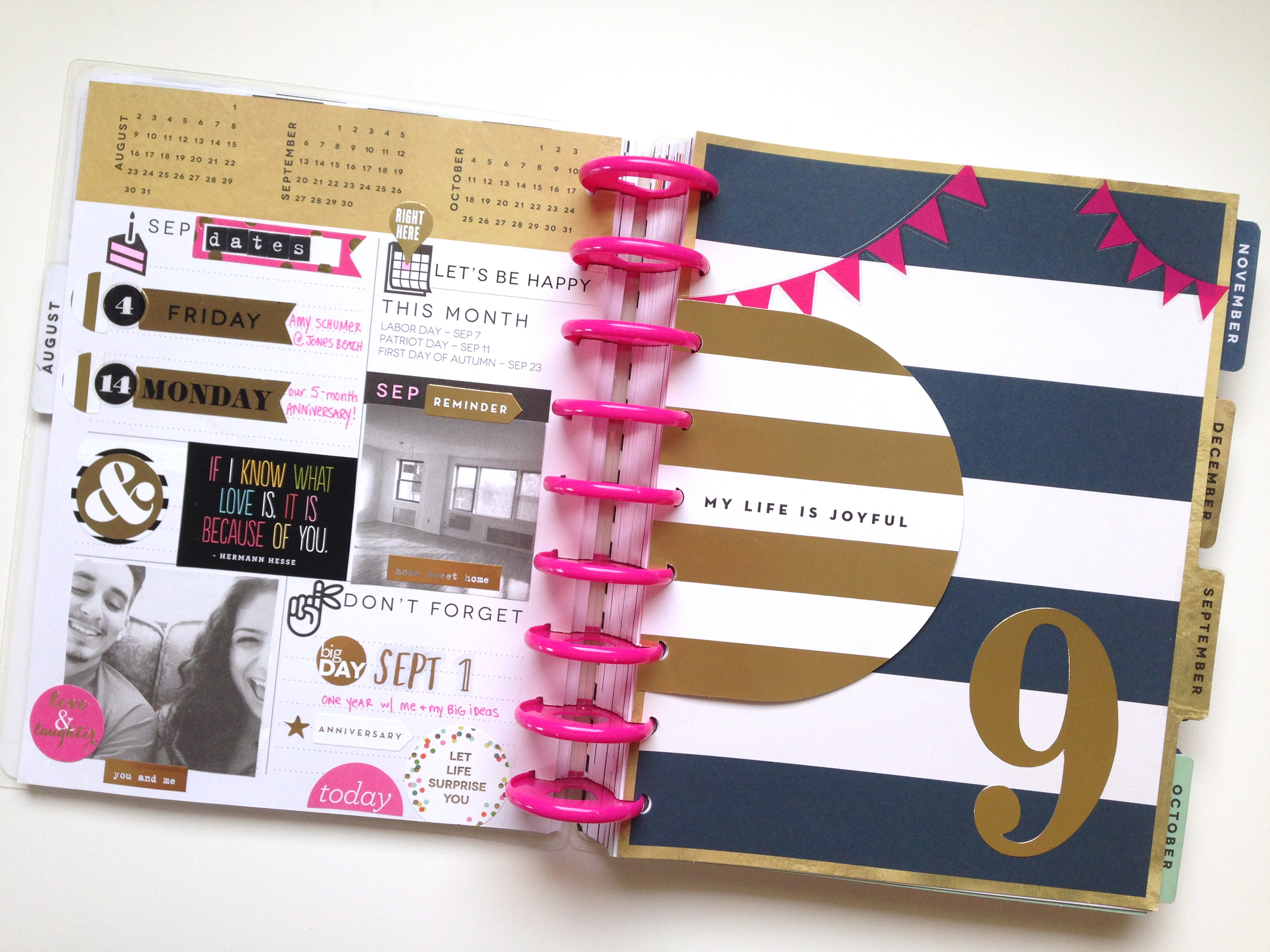 prepping for September in The Happy Planner™ of mambi Social Media Coordinator Amanda Zampelli | me & my BIG ideas