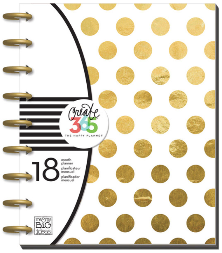 2015-2016 Gold Foil Dots Happy Planner™ | me & my BIG ideashttp://shop.meandmybigideas.com/collections/create-365/products/gold-dot-planner