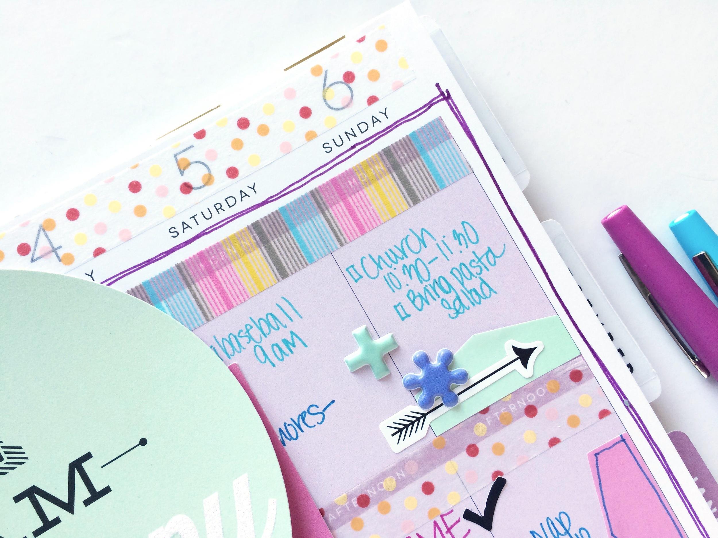 mom's purple-themed BACK TO SCHOOL spread by mambi Design Team member Mary-Ann Maldonado | me & my BIG ideas