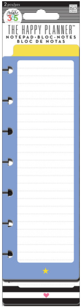 'Star & Heart' Notepads for Create 365™The Happy Planner™ | me & my BIG ideas