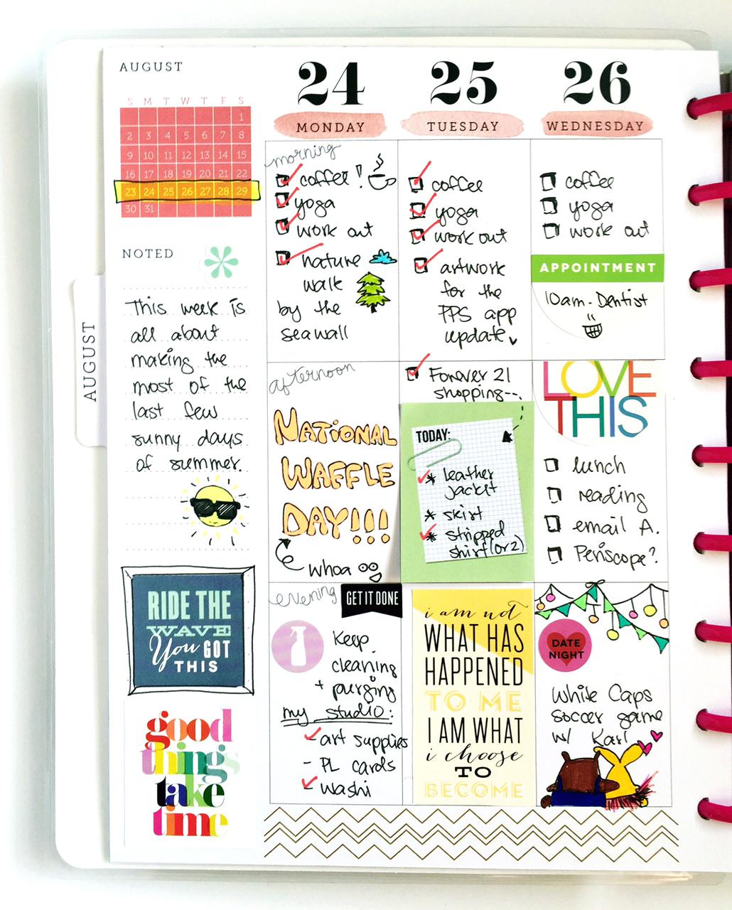 half planner/ half pocket page Happy Planner™ spread by mambi Design Team member Olya Schmidt | me & my BIG ideas