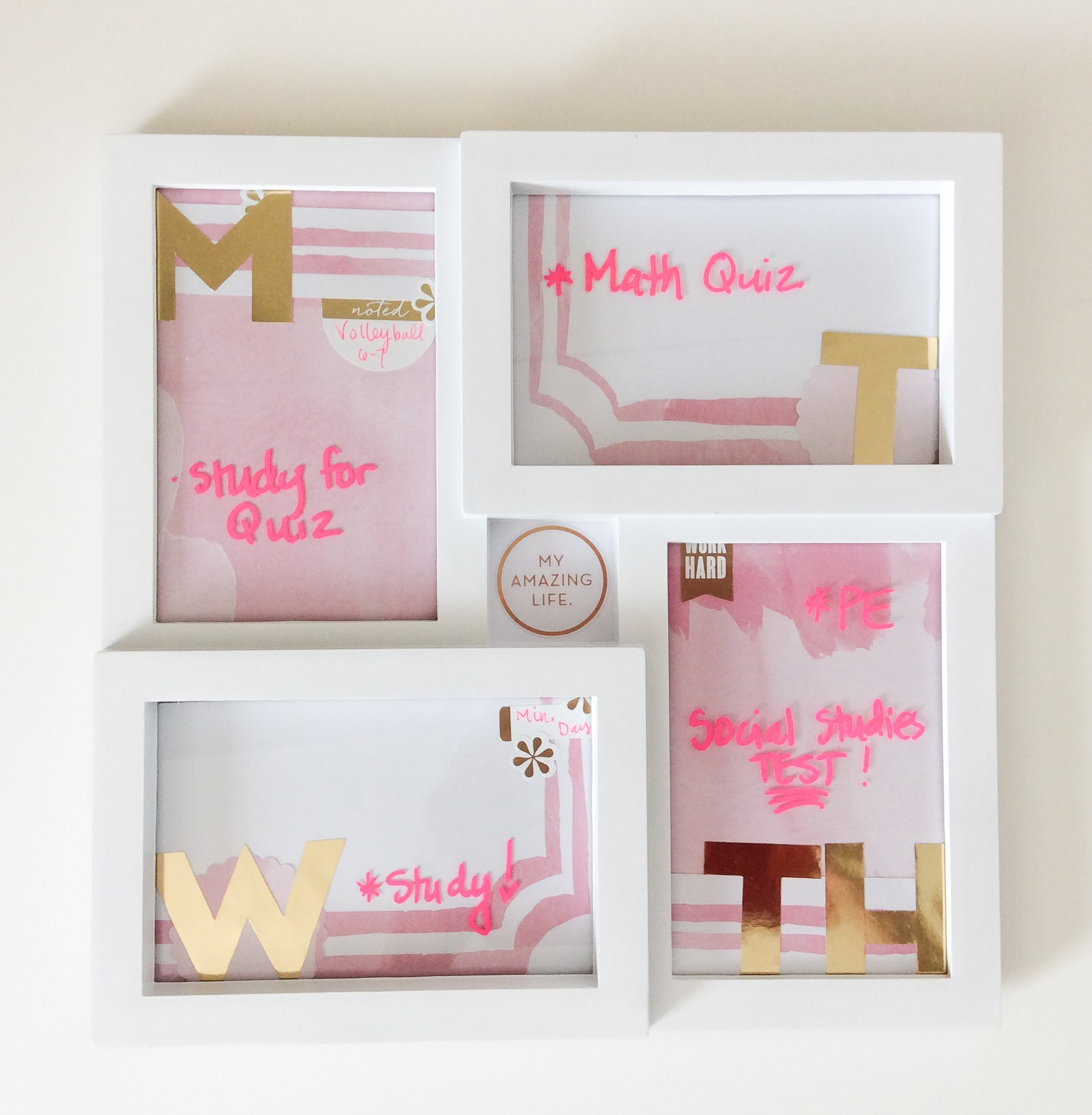 Homework Dry Erase Frame 'back to school' craft by mambi Design Team member Jen Randall | me & my BIG ideas