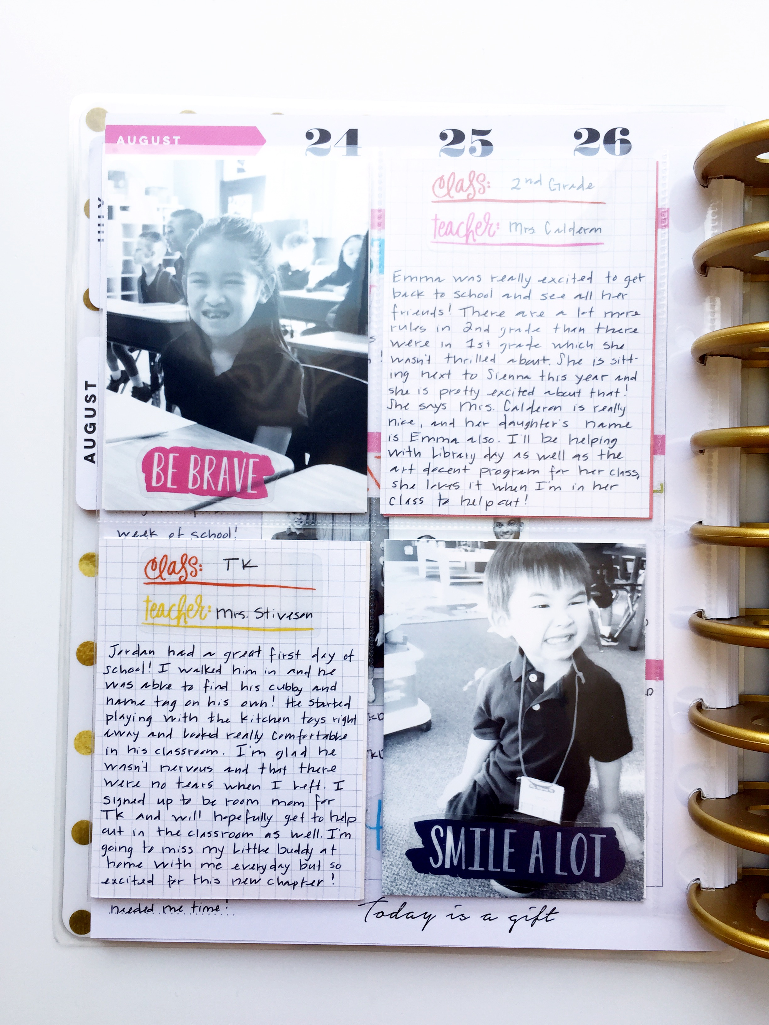 First Day of School w/ a POCKET PAGES™ insert by mambi Design Team member Theresa Doan | me & my BIG ideas