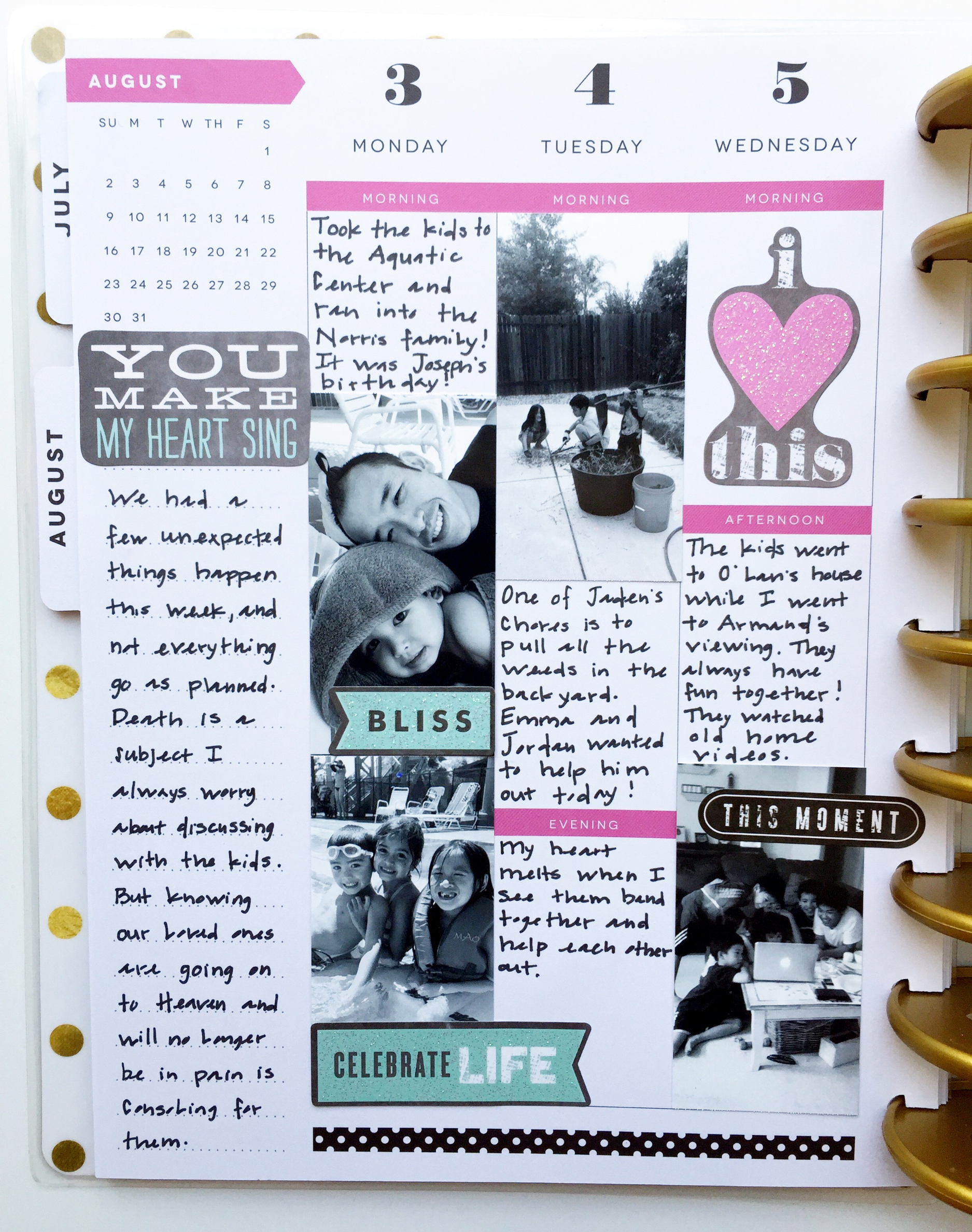 remembering an August week in The Happy Planner™ of mambi Design Team member Theresa Doan | me & my BIG ideas