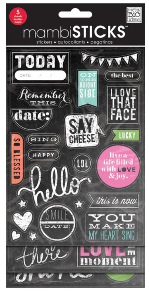 'Today' Chalkboard mambiSTICKS sticker pack | me & my BIG ideas