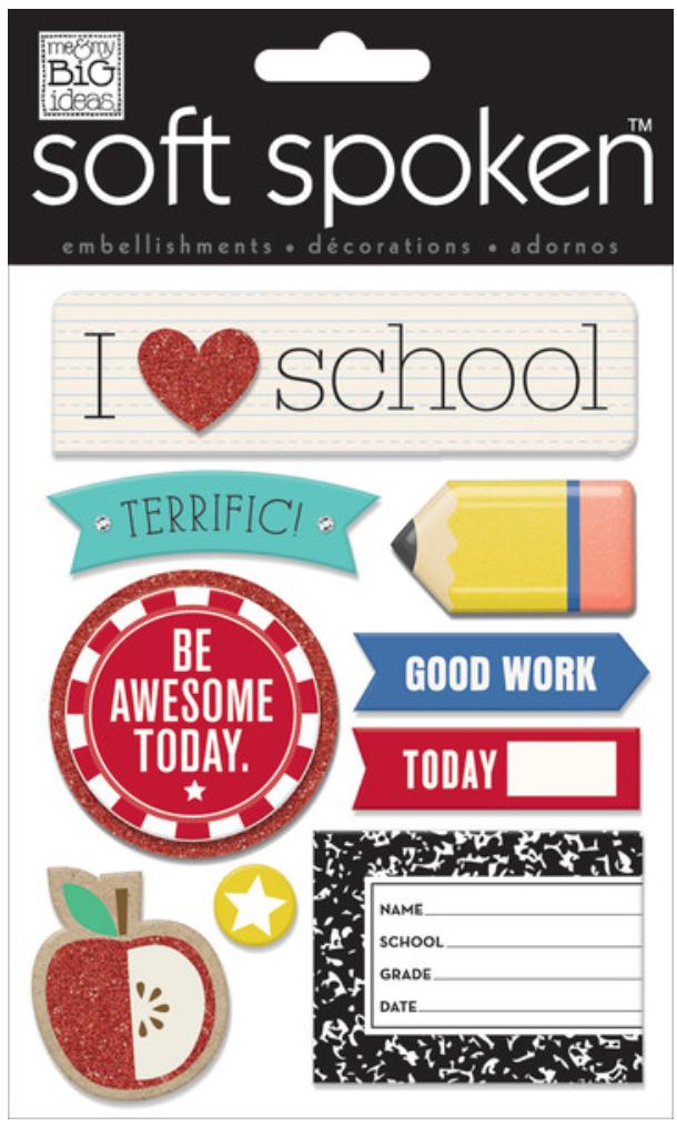 'I Heart School' SOFT SPOKEN™ stickers | me & my BIG ideas