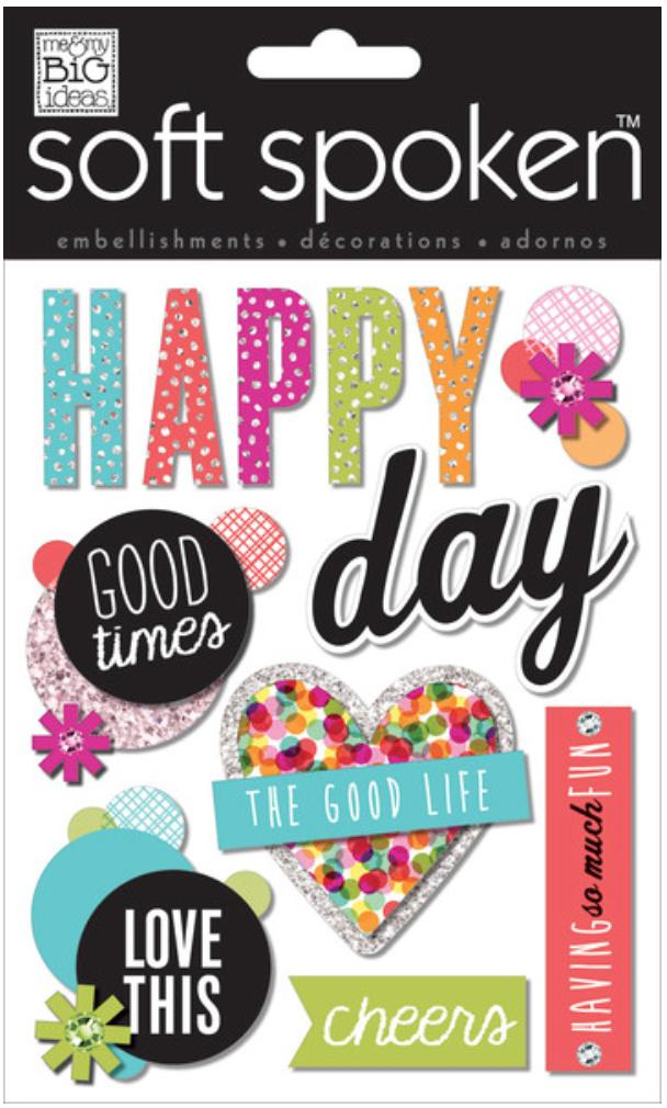 'Happy Day' SOFT SPOKEN™ stickers | me & my BIG ideas