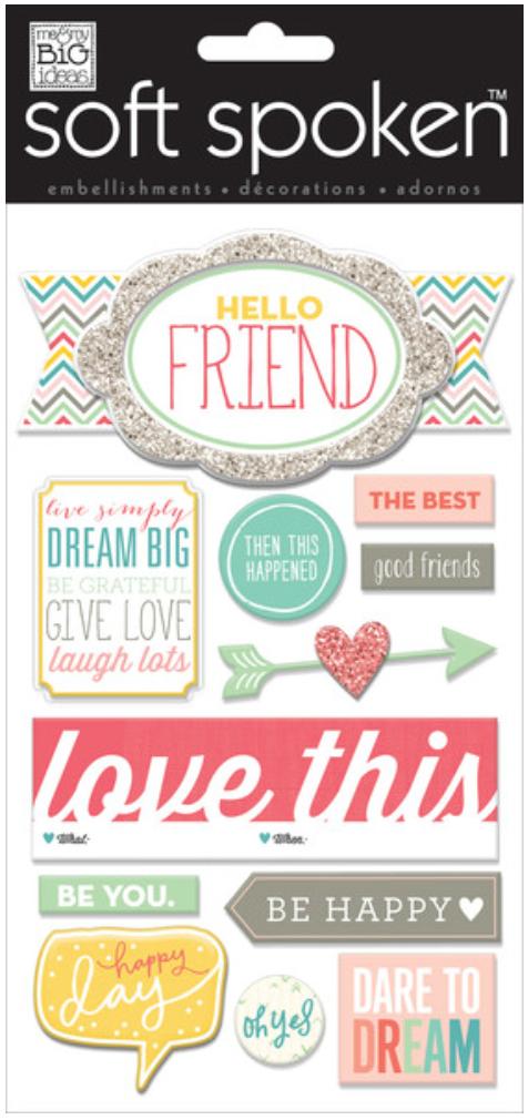'Hello Friends' SOFT SPOKEN™ stickers | me & my BIG ideas