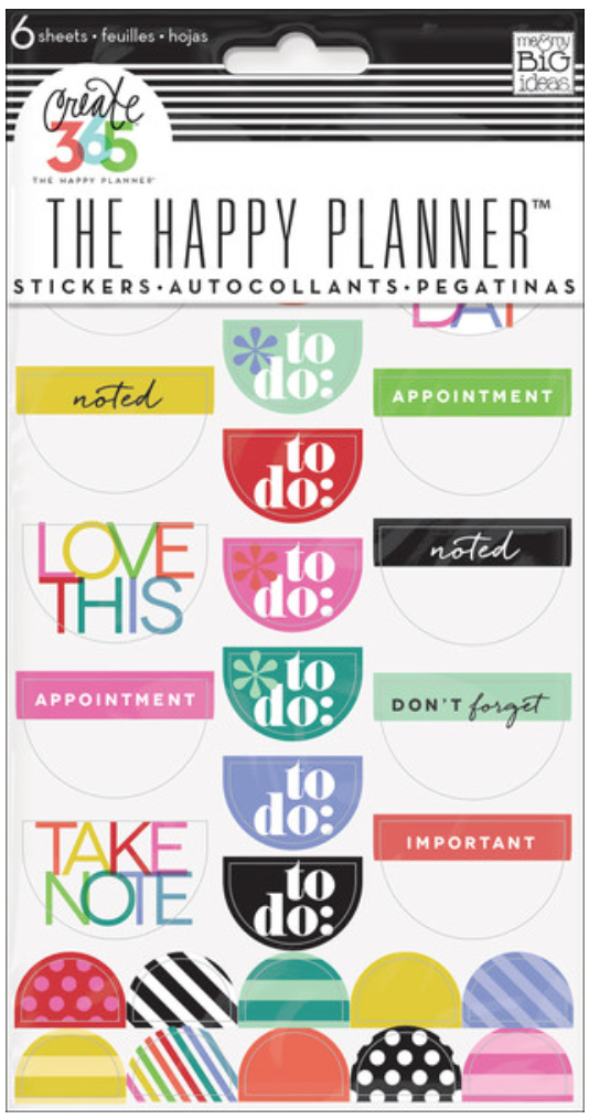 'Bright' stickers for Create 365™ The Happy Planner™ | me & my BIG ideas
