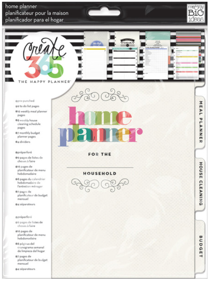 Home Planner Expanion Pack for Create 365™ The Happy Planner™ | me & my Big ideas
