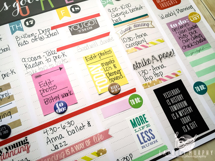 a look at the Weekly Planner Pad of mambi Design Team member Latrice Murphy | me & my BIG ideas