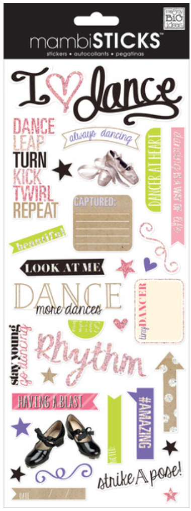 'Always Dancing' mambiSTICKS stickers | me & my BIG ideas