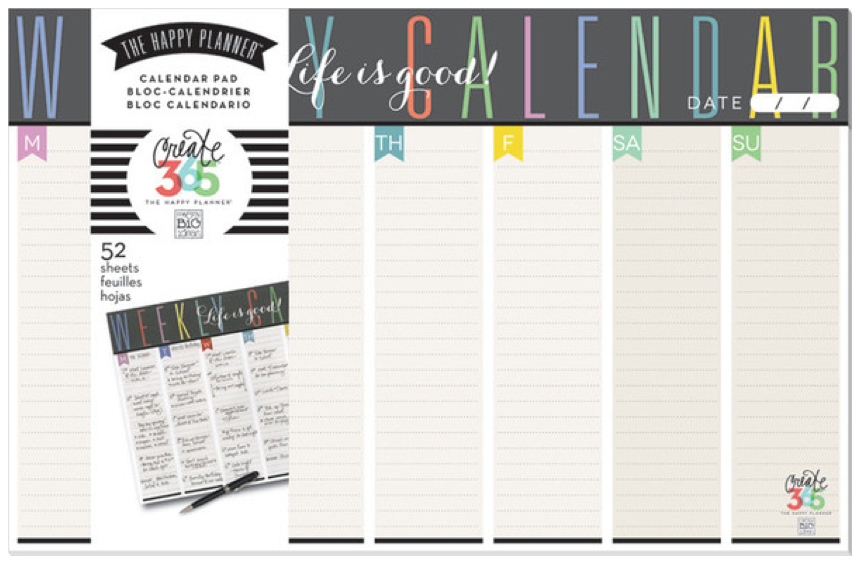 Weekly Planner Pad from Create 365™ The Happy Planner™ line | me & my BIG ideas