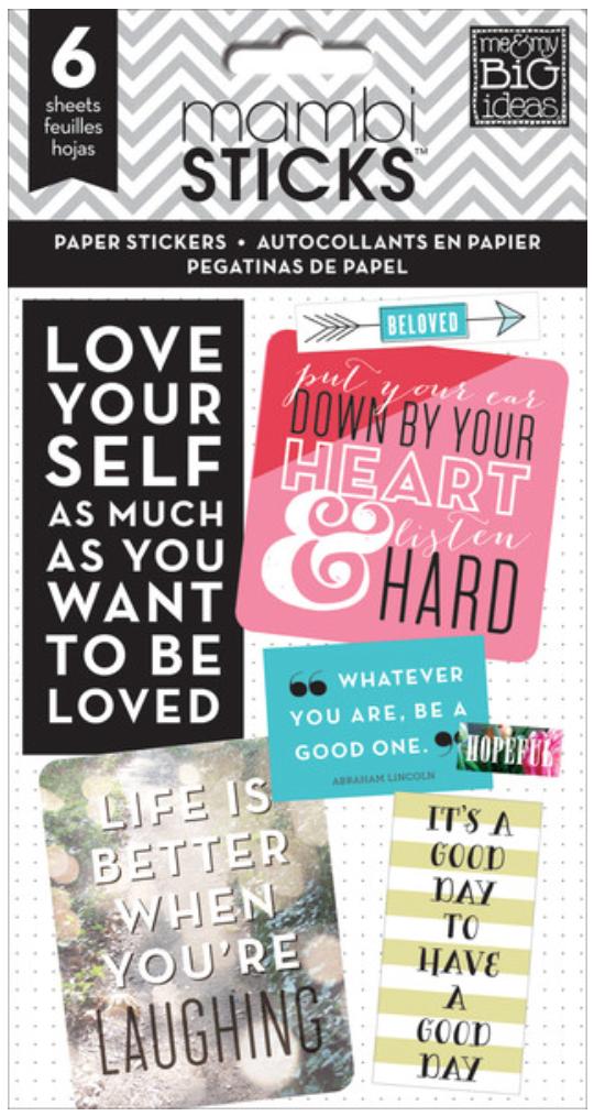 'Inspirational Quotes' mambiSTICKS sticker pad | me & my BIG ideas