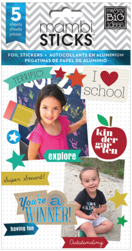 'I Heart School' mambiSTICKS sticker pad | me & my BIG ideas