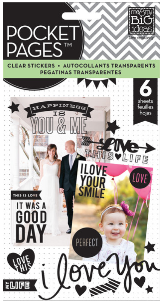clear black POCKET PAGES™ sticker pad | me & my BIG ideas