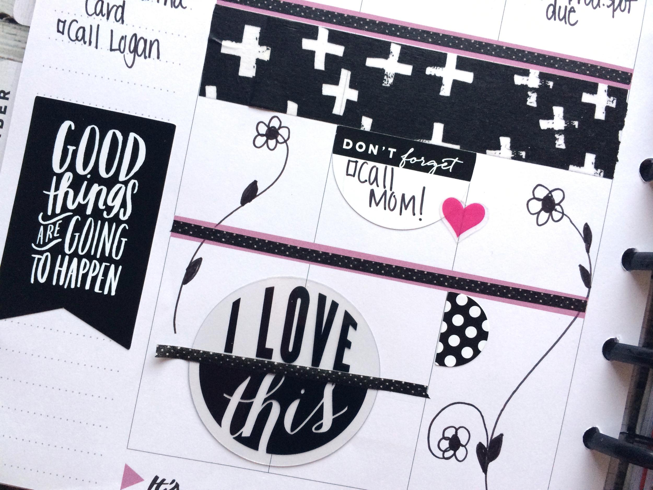 Black & White week in The Happy Planner™ of mambi Deisgn Team member Mary-Ann Maldonado   me & my BIG ideas