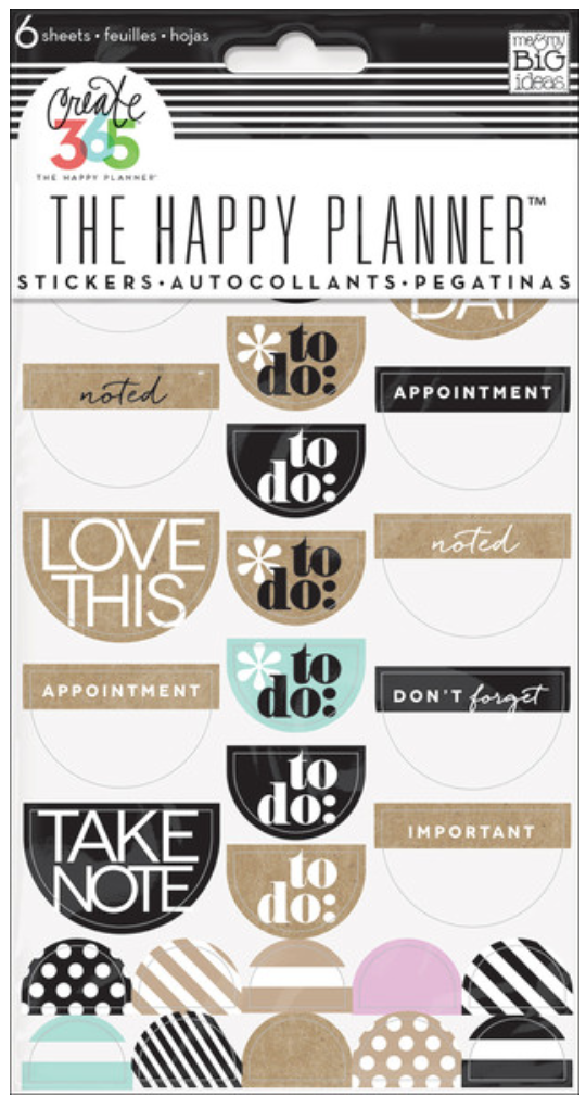 Neutral 'To Do' stickers for Create 365™ The Happy Planner™   me & my BIG ideas