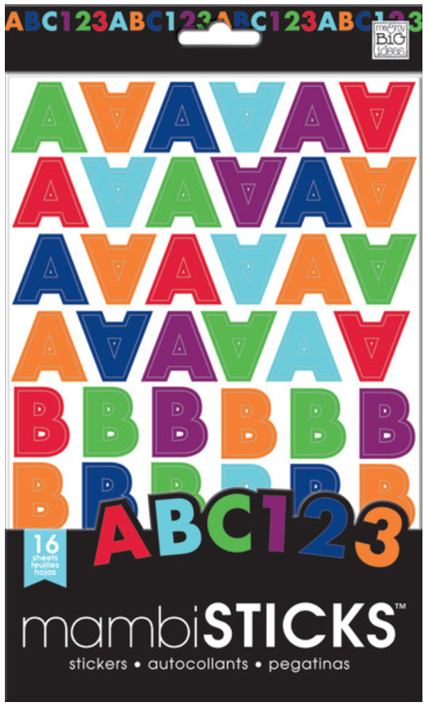 Jewel Toned Uppercase mambiSTICKS alphabet stickers | me & my BIG ideas