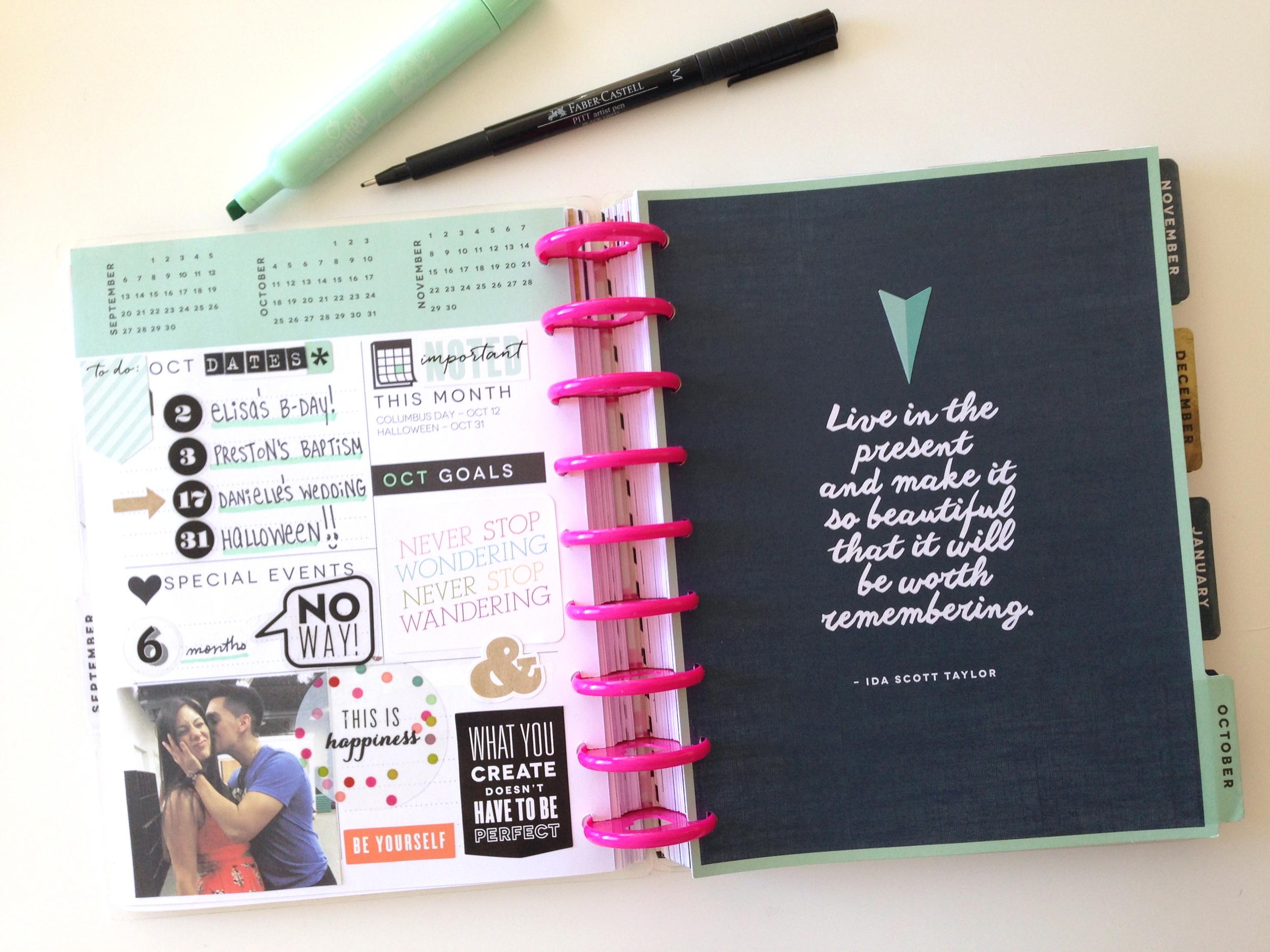 prepping for OCTOBER in The Happy Planner of mambi Social Media Coorindator Amanda Zampelli | me & my BIG ideas
