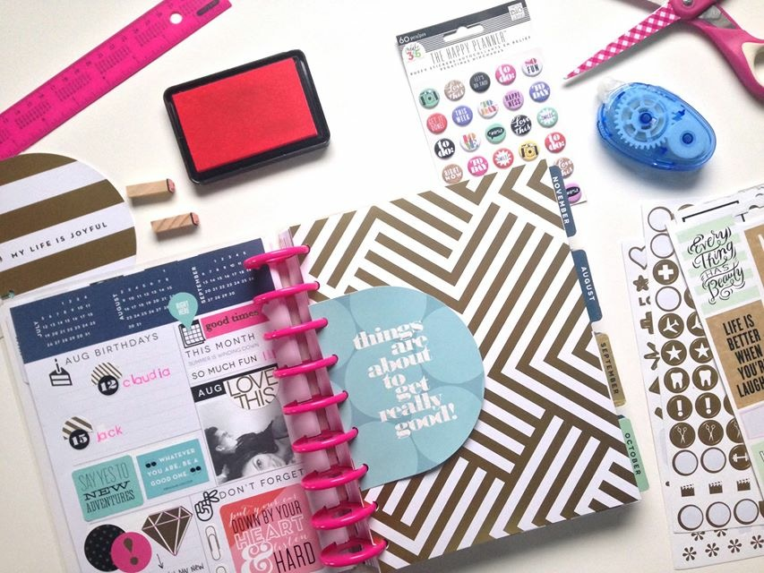 prepping for AUGUST in The Happy Planner of mambi Social Media Coorindator Amanda Zampelli | me & my BIG ideas