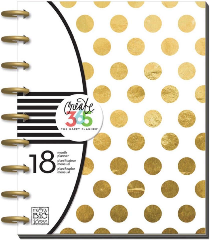 2015 - 2016 Gold Foil Dots Happy Planner™ | me & my Big ideas
