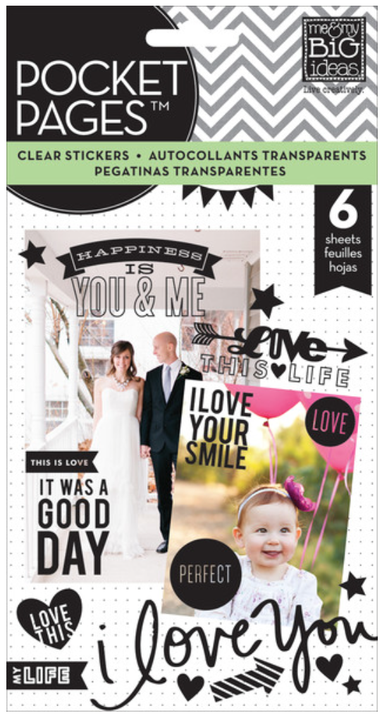 Black POCKET PAGES™ clear stickers | me & my BIG ideas