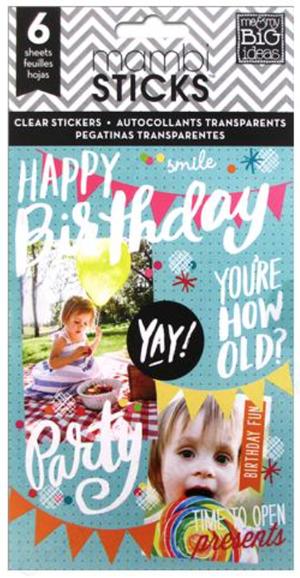 'Happy Birthday' mambiSTICKS sticker pad | me & my BIG ideas