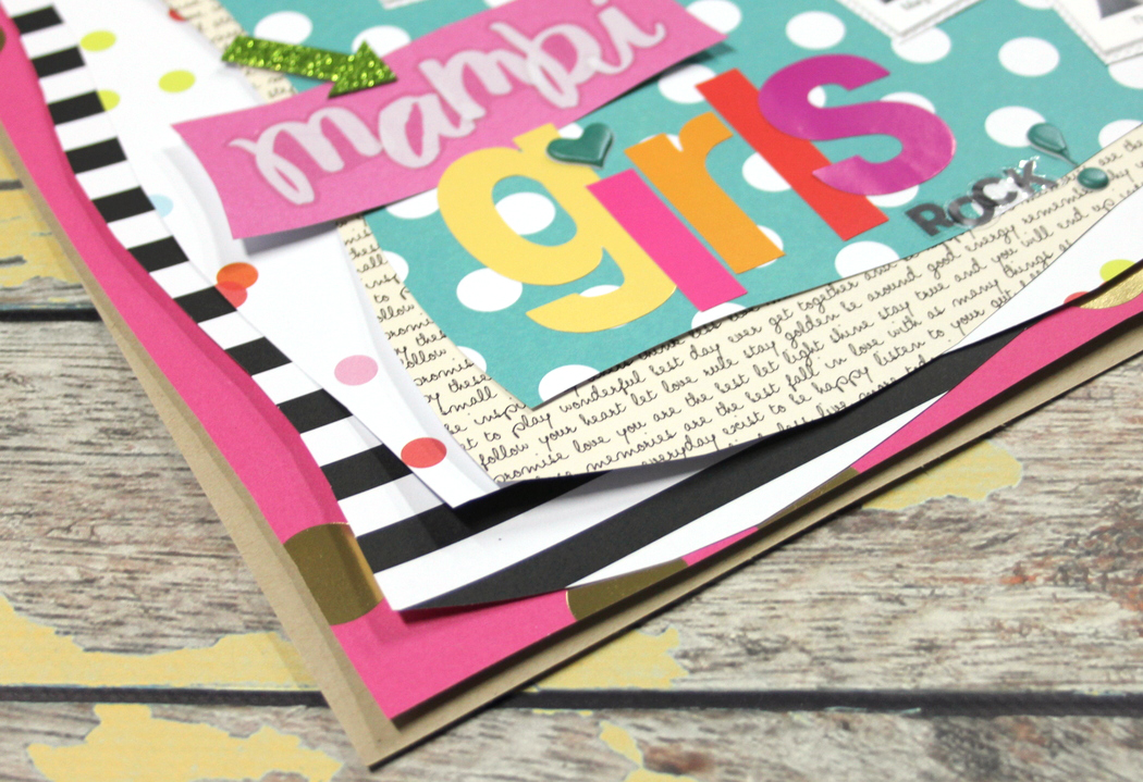 'mambi girls rock' scrapbook page by mambi Deisgn Team member Candi Billman | me & my BIG ideas