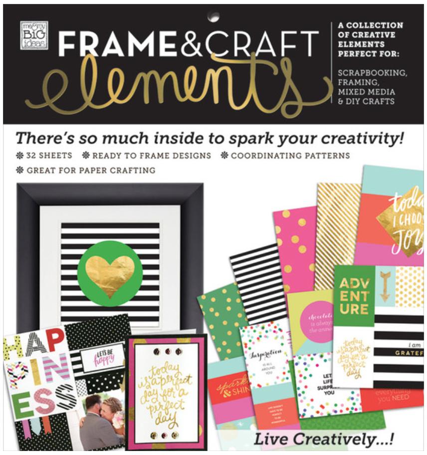 'Big City Brights' Frame&Craft Elements 12x12 paper pad | me & my BIG ideas