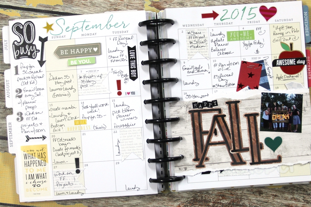 'Happy Fall' Sept monthly spread