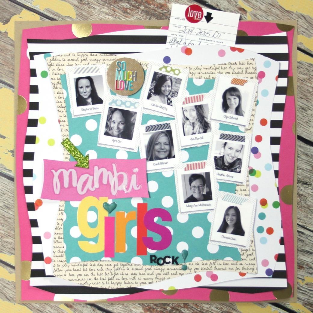 'mambi Girls ROCK!' scrapbook page
