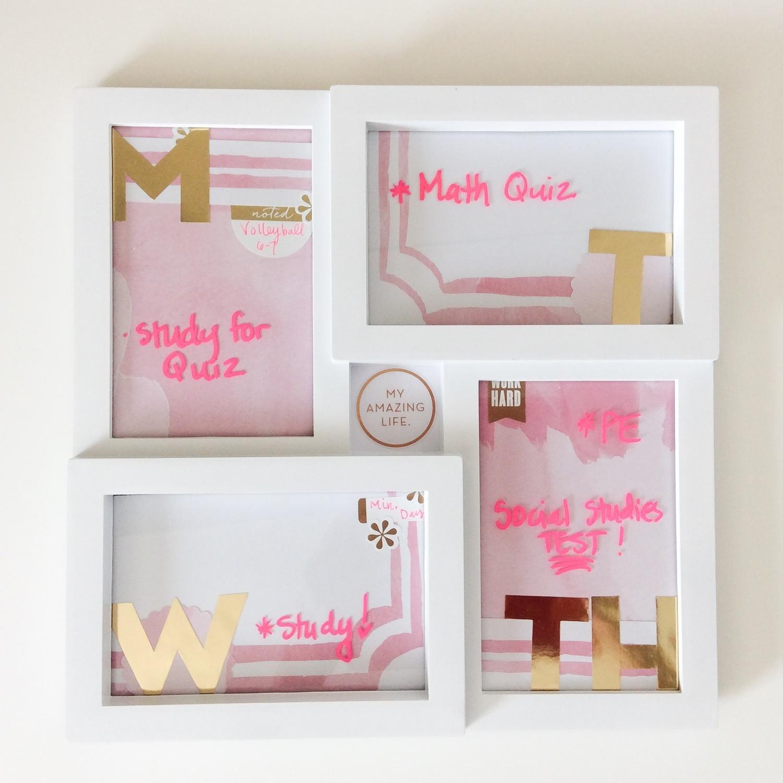 dry erase frame for HOMEWORK