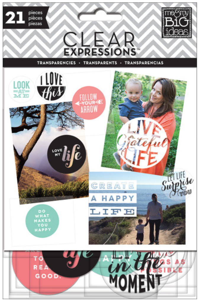 'Create a Happy Life' Clear Expressions Tranparencies | me & my BIG ideas