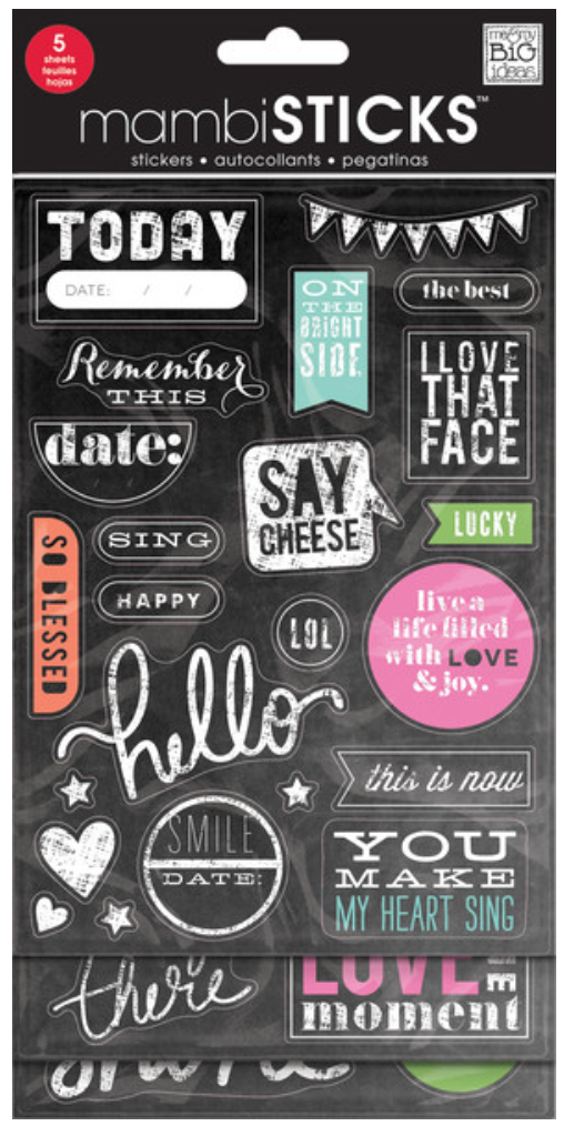 'Today' mambiSTICKS chalkboard sticker pack | me & my BIG ideas