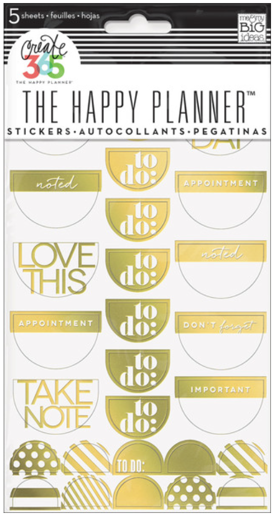 Gold Foil 'To Do' stickers for Create 365™ The Happy Planner™ | me & my BIG ideas
