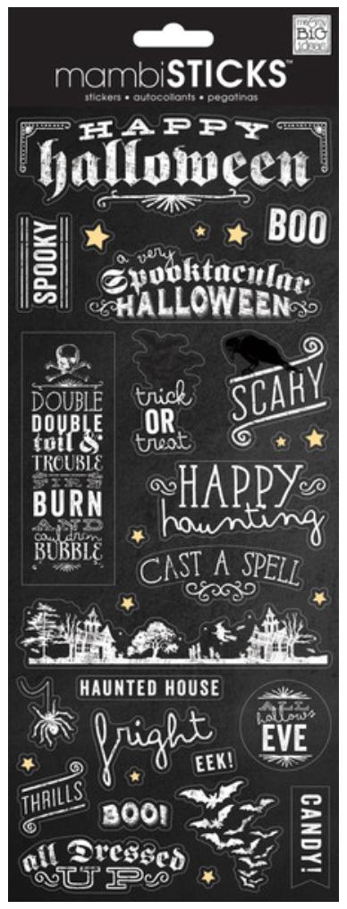 'Happy Halloween' mambiSTICKS chalkboard stickers | me & my BIG ideas