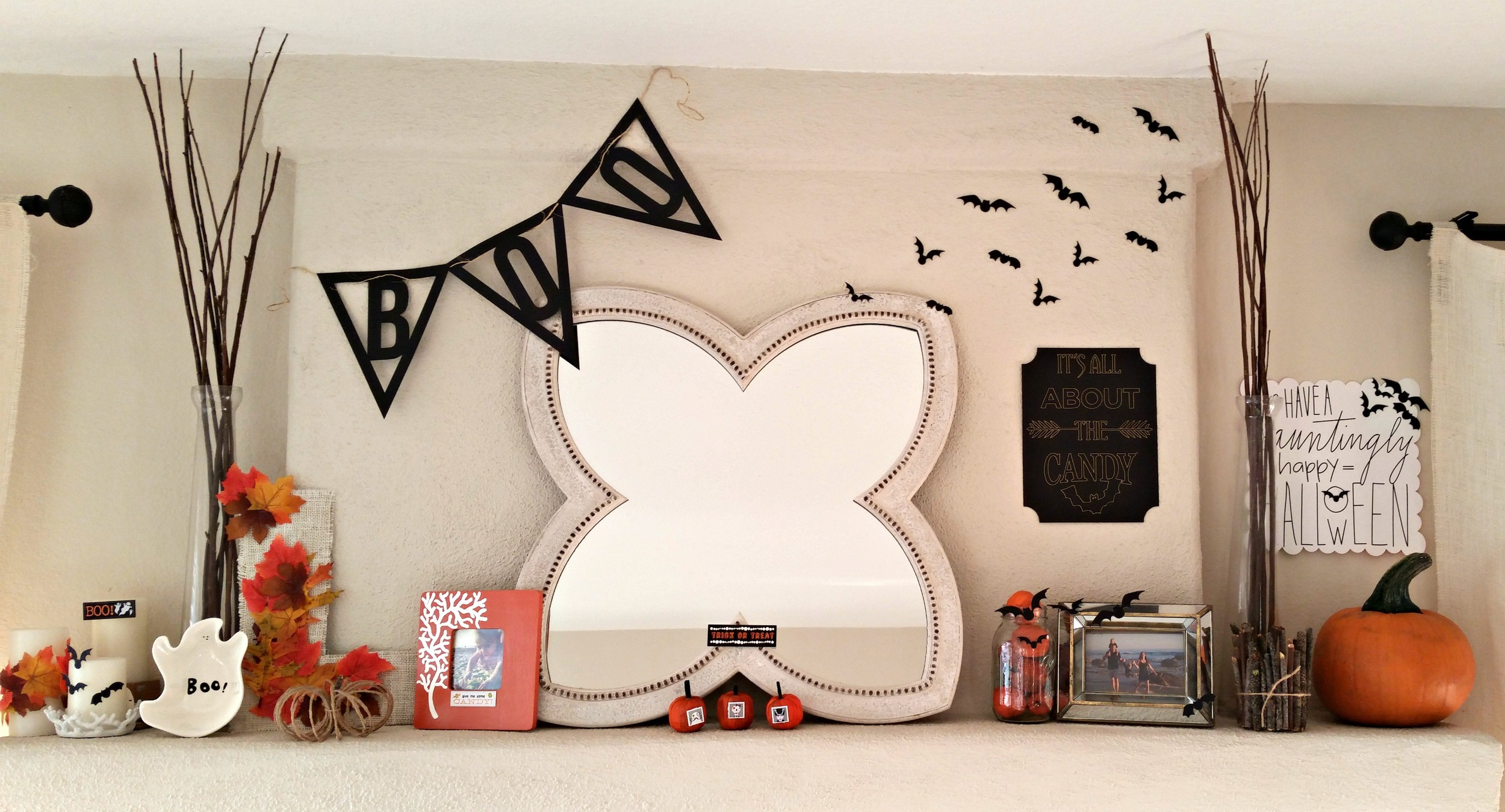 Halloween mantle using mambiCHIPS by mambi Design Team member Nicole Lensen | me & my BIG ideas