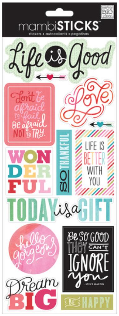 'Life is Good' mambiSTICKS sticker pack | me & my BIG ideas