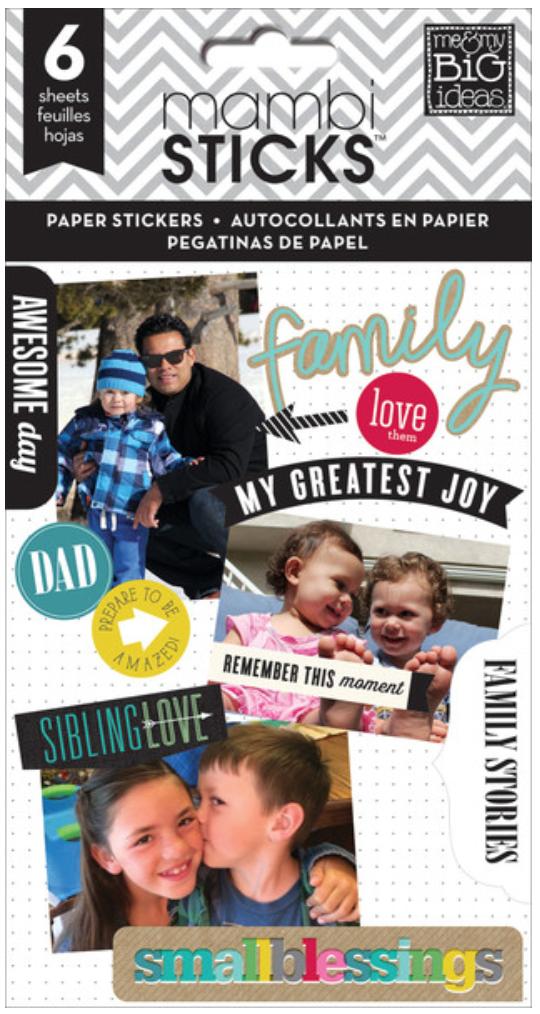 'Family Love' mambiSTICKS sticker pad | me & my BIG ideas