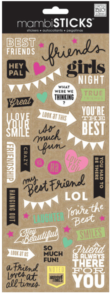 'Best Friends' Doodle Words mambiSTICKS stickers | me & my BIG ideas